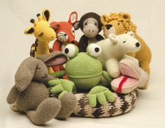 The whole Crocheted Wild Animals gang
