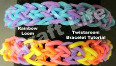 Craft Life Twistarooni Rainbow Loom Bracelet Tutorial ~ One Loom