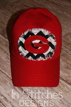 love this!!! UGA hat by InStitchesMonogram on Etsy, $22.00