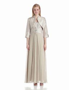 Women's 2 Piece Bolero Jacket and Bodice Dress