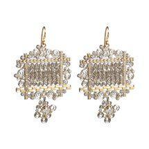 Judy Geib Diamond, Platinum & Gold Wind Serenade Earrings