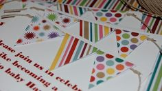 DIY Pennant Invites for Birthdays, Baby Showers, and More