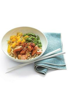 Salmon and Citrus Rice Bowl Recipe