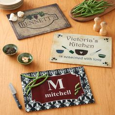 #Personalized Kitchen Glass Cutting Board | Personal Creations #giftidea for foodie friends!