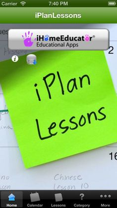 Lesson planning on the IPad - I need to look into this!
