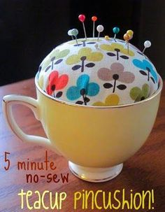 Aren't we constantly searching for a perfect place to store our pins for Hijabs? Try out this 5-minute no-sew teacup pin cushion! ^^