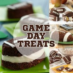 Sweet Football Treats for the big game!