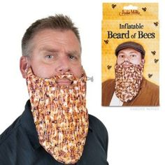 "Amazon.com: Inflatable Beard of Bees: 10"" long vinyl Beard of Bees  Fits most adult face  None of the danger of using real bees"