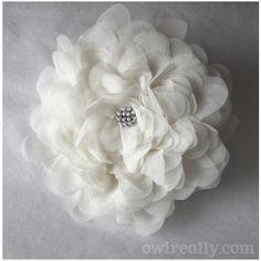 DIY Single Bloom Fabric Bouquet by owlreally, via Flickr