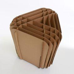 // cardboard stool