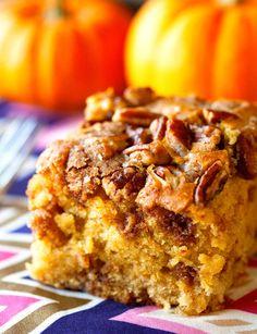 Pumpkin Coffee Cake Recipe - RecipeChart.com