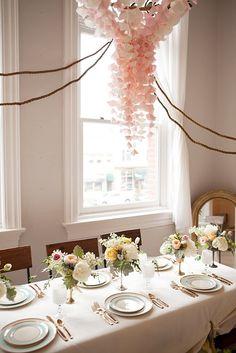 pretty tissue paper chandelier