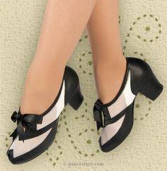 "Aris Allen Black and White 1940s Peep-Toe Mesh Oxford Swing Dance Shoes - *Limited Sizes*, <a href=""http://dancestore.com"" rel=""nofollow"" target=""_blank"">dancestore.com</a> - 2"