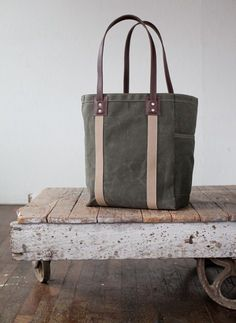No. 105 Tote in Waxed Canvas, by ArtifactBags