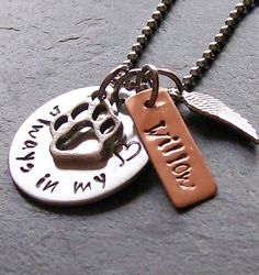 Personalized Hand Stamped Dog Remembrance Memorial Necklace -Angel Wing Charm on Etsy, $28.00