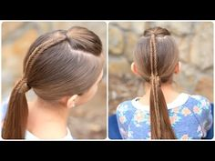 How to Create a Fishtail-Accented Ponytail.. A stunning way to dress up a boring ponytail. #Ponytail #Fishtail #Fishtailbraid #CGHFishtailAccentPony