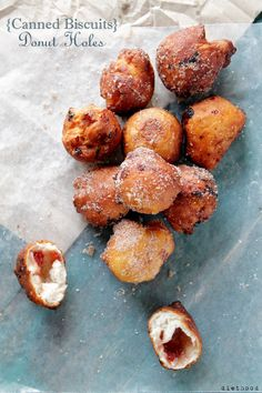 Canned Biscuits Jelly Donut Holes @Kate Petrovska | Diethood #doughnuts #recipe #breakfast #chocolate