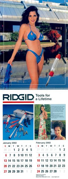 RIDGID calendar model Kelly Monaco was twice nominated for a Daytime Emmy Award while appearing on the television show General Hospital!