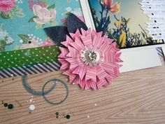 Love this flower made from paper scraps!