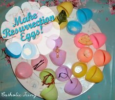 How to make your own Resurrection eggs! This post includes over 2 dozen of ideas of things to put in the eggs so you can easily choose things you have available around your own house. :-) Great way to teach your kids the Easter story.