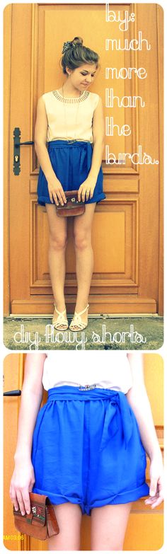 diy super easy flowy and baggy shorts. really comfy too!  #tutorial