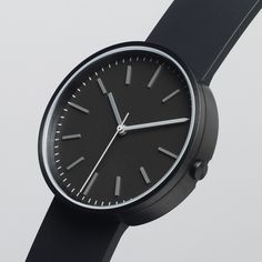 104 Series watch by Uniform Wares in black. Available at Dezeen Watch Store: www.dezeenwatchstore.com #watches