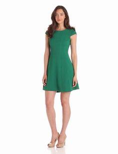 Amazon.com: Taylor Dresses Women's Textured Knit Cap Sleeve Dress: Clothing