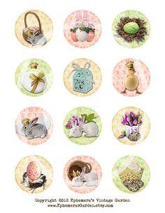 Easter Cupcake Toppers, Ephemera's Vintage Garden on Etsy, $4.00