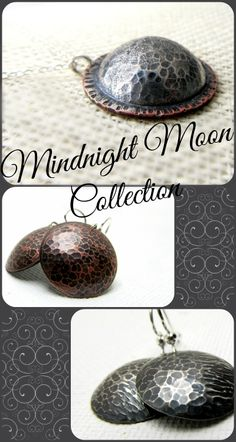 The Midnight Moon Collection from #LittleHillJewelry features necklaces and earrings with lovely textures and decadent colors