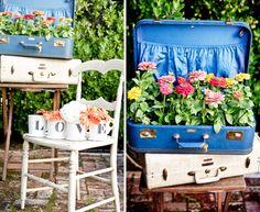 DIY Suitcase flower pot