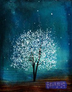 Spirit of Water  Mooleh Jung Lyung Su in Korean  11x14 by youmin,