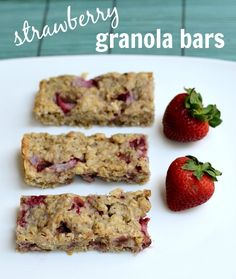 Strawberry Granola Bars | Real Food Real Deals