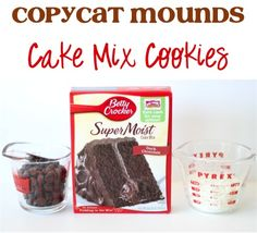 Copycat Mounds Cake Mix Cookies Recipe! ~ from TheFrugalGirls.com ~ they're full of dark chocolate, coconut, and absolute deliciousness! #cookie #recipes #thefrugalgirls