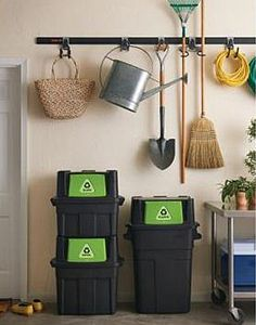 Green Tip: Stackable recycling bins make recycling easier and a lot more tidy.