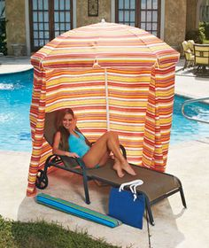 Portable #Cabanas - Set these up next #camp! Perfect for the #beach or your own #backyard!