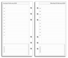 Filofax personal day-on-one-page printable