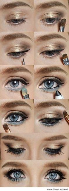 Makeup for blue eyes