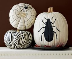 painted pumpkins.