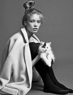 Julia Hafstrom by Hasse Nielsen for S/S/A/W magazine Fall/Winter 2014