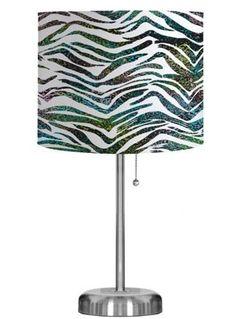 Lighten up your room with our Zebra print lamp! #AnnasLinens #Zebra #AnimalPrint