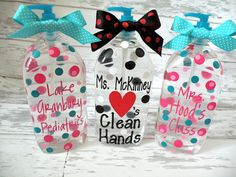 personalized soap or hand sanitizer- Love the middle one!
