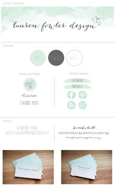 Watercolor logo, web design and business cards!  © Lauren Fowler Design Color Palettes, Watercolor Logo Design, Watercolor Website, Watercolor Logos