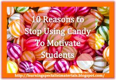 Come read about ten reasons to avoid motivating learners with sweets as well as recommendations on how to entice and engage learners.