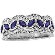 sapphire/w diamonds !