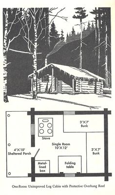 Small, simple cabin layout ....