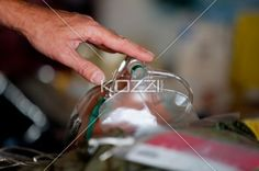 saving a life - A hand pressing oxygen mask to save life.