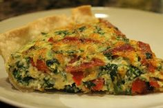 Spinach and pepperoni quiche