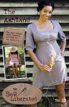 The Ashland Dress Sewing Pattern by SewLiberatedPatterns on Etsy, $15.95