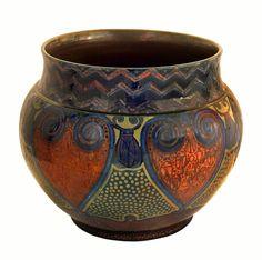 Galileo Chini - Vaso con maggiolini stilizzati - 1919-25 - Collezione privata