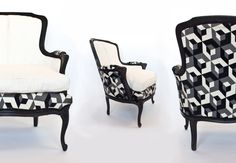 French Provincial Redux The Klaudia Chair by Omforme on Etsy, $475.00